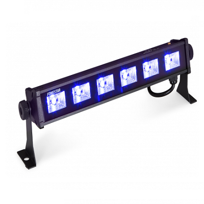 Barra LED de luz UV NEGRA